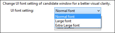Windows 8 Traditional Chinese candidate font size