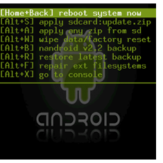 Rooted Andriod screen