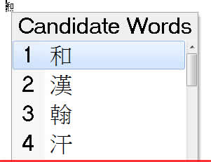 Taiwan IME Extra Large font in Candidate List