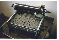 Double Pigeon brand Chinese typewriter - via Wikimedia Commons - click for information page