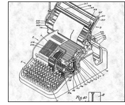 Lin Yutang Ming Kwai Chinese typewriter patent drawing - via Amazon.com - click for information