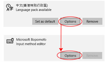 HK - Bopomofo options